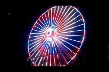 Morey's Piers Giant Wheel Lighting Upgrade for 2012