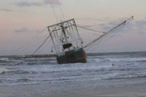 Fishing Troller Stranded On Wildwood Beach
