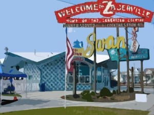 Ed Zaberers Sign Wildwood Video Archive 2