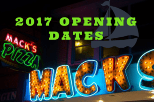 2017 Opening Dates