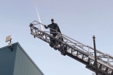 Batman Visits A Wildwood School