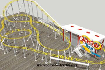 "Morey's Piers New Coaster ""Runaway Tram"""