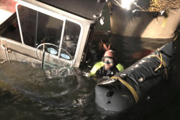 Boat Raised In Sea Isle City